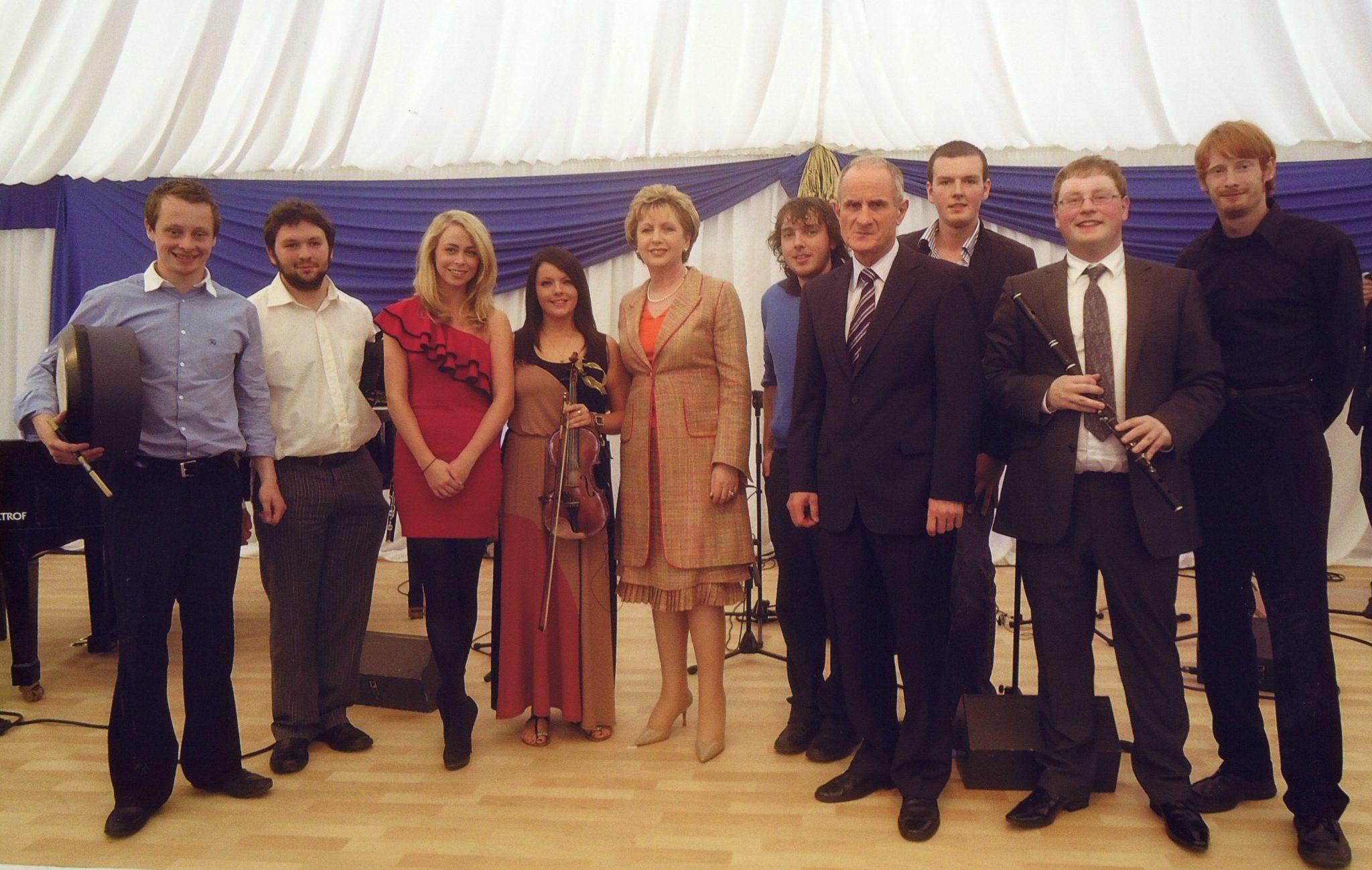 Garden Party at Aras an Uachtaráin with President Mary McAleese