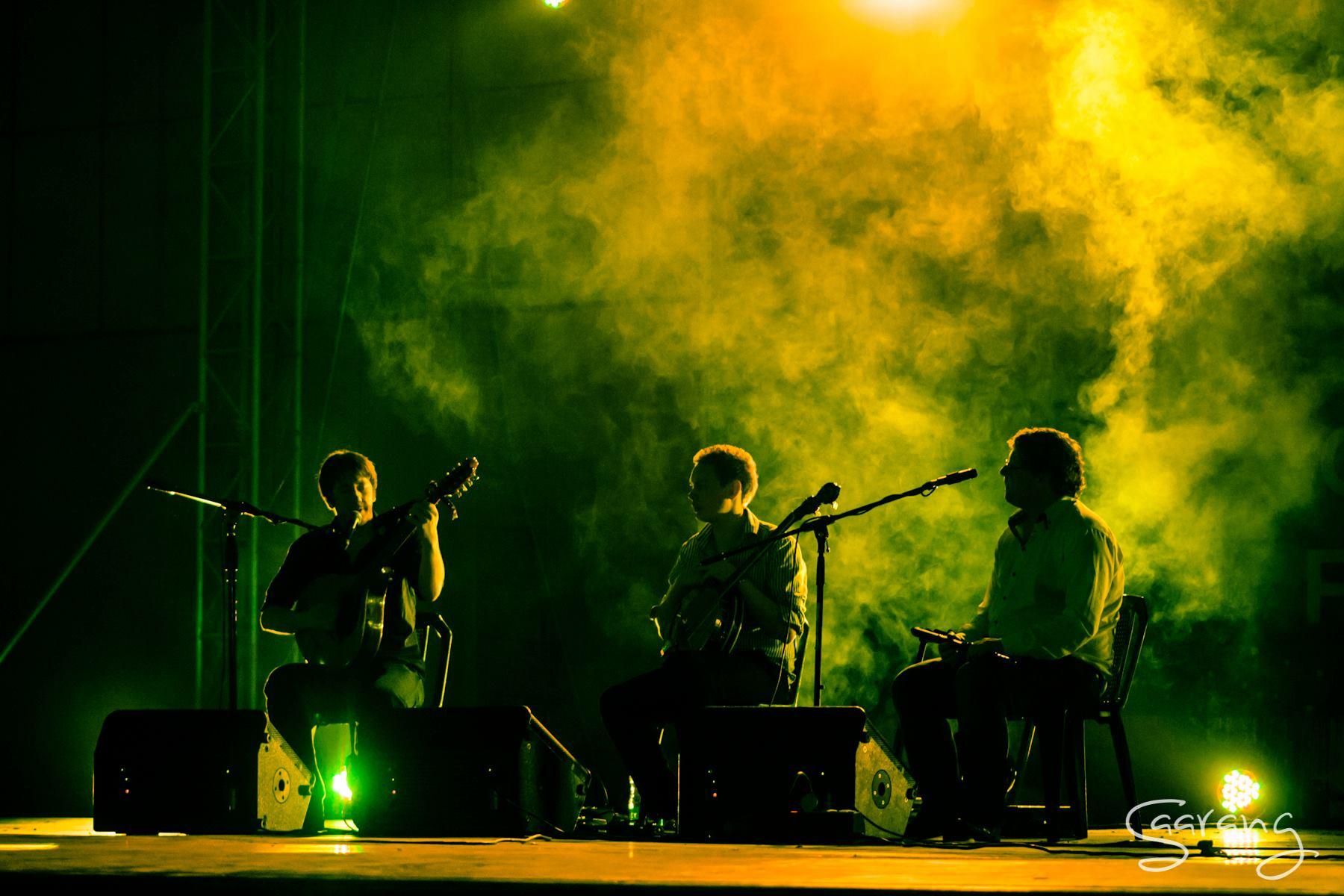 Daoiri Farrell, James Harvey and Robert Harvey at Saarang Festival, Chennai, India